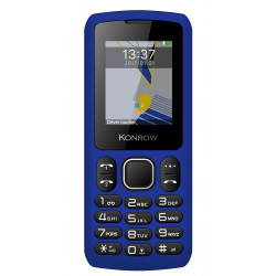 Konrow Chipo 3 - Mobile - Ecran 1.8'' - Photo - Bluetooth - Double Sim - Bleu