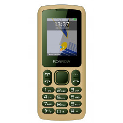 Konrow Chipo 3 - Mobile - Ecran 1.8'' - Photo - Bluetooth - Double Sim - Moka