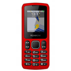Konrow Chipo 3 - Mobile - Ecran 1.8'' - Photo - Bluetooth - Double Sim - Rouge