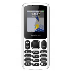 Konrow Chipo 3 - Téléphone Classique - Ecran 1.8'' - Photo - Bluetooth - Double Sim - Blanc