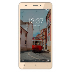 Konrow Link 55 - Android 6.0 - 4G LTE - Ecran 5.5'' - 8Go - Double Sim - Or