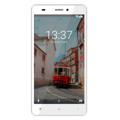 Konrow Link 55 - Smartphone 4G LTE - Android 6.0 Marshmallow - Ecran 5.5'' - 8Go - Double Som - Blanc