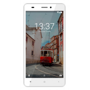 Konrow Link 55 - Smartphone 4G LTE - Android 6.0 Marshmallow - Ecran 5.5'' - 8Go - Double Sim - Blanc
