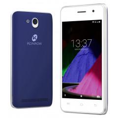 Konrow Start - Smartphone Android 6.0 - Ecran de 4'' - 8Go - Double Sim - Bleu