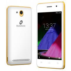 Konrow Start - Smartphone Android 6.0 - Ecran de 4'' - 8Go - Double Sim - Or