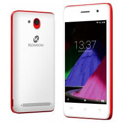 Konrow Start - Smartphone Android 6.0 - Ecran de 4'' - 8Go - Double Sim - Rouge
