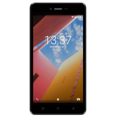 Konrow Just 5 - Smartphone Android 7.0 Nougat - Ecran IPS 5'' - 8Go - Double Sim - Noir