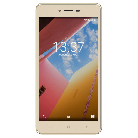 Konrow Just 5 - Smartphone Android 7.0 Nougat - Ecran IPS 5'' - 8Go - Double Sim - Or