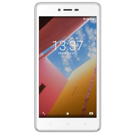 Konrow Just 5 - Smartphone Android 7.0 Nougat - Ecran IPS 5'' - 8Go - Double Sim - Blanc