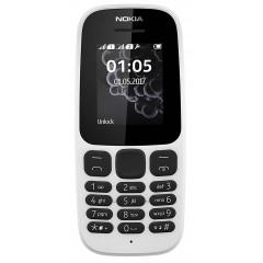 Nokia 105 (2017) Double Sim Blanc