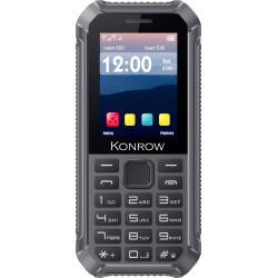 Konrow Stone Lite - Antichoc Certifié IP65 - 2.4'' - Double Sim - Noir / Gris