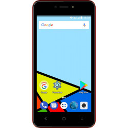 Konrow Easy Feel - Smartphone Android - 4G - Ecran 5'' - Double Sim - 16Go, 1Go RAM - Rouge