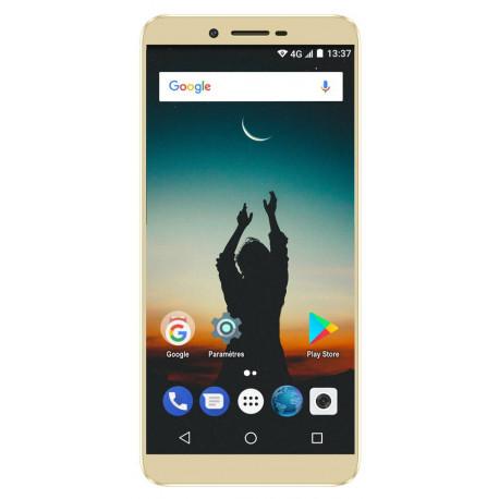 Konrow Sky - Smartphone Android - 4G - Écran 5.5'' - Double Sim - 16Go, 2Go RAM - Or
