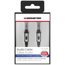 Câble Audio Monster Jack 3.5 mm Mâle / Mâle 1.2 m - Noir