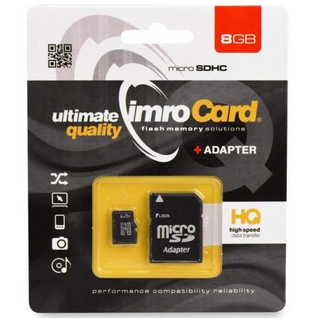 Carte Mémoire Imro 8 Go (Avec Adaptateur carte SD)