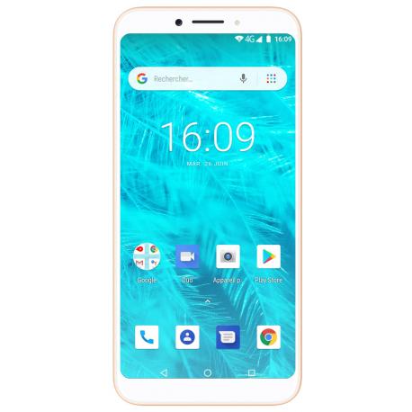 Konrow Sky Lite - Smartphone Android - 4G - Écran 5.45'' - Double Sim - 16Go, 1Go RAM - Or