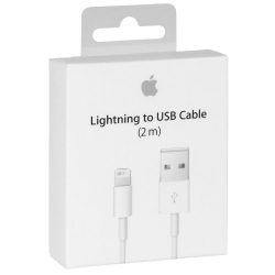 Apple MD819 - Câble Lightning Original - 2m - Blanc (Blister)