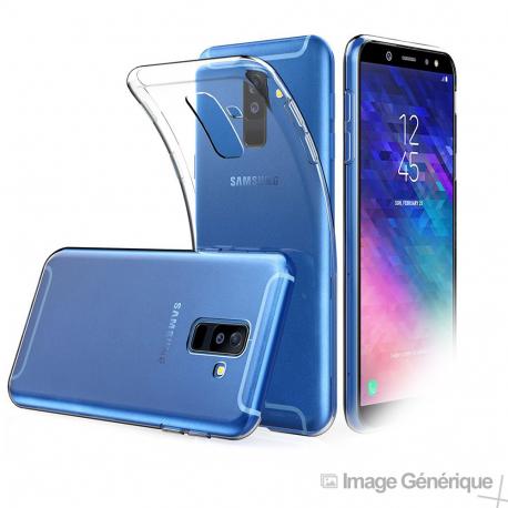 Coque Silicone Transparente pour Samsung Galaxy A6 Plus
