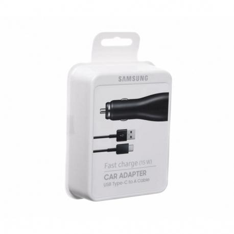 Samsung EP-LN915CBEGWW - Chargeur Voiture Complet, Adaptateur Fast Charge 15W & Câble USB Type-C - Noir (Emballage Originale)