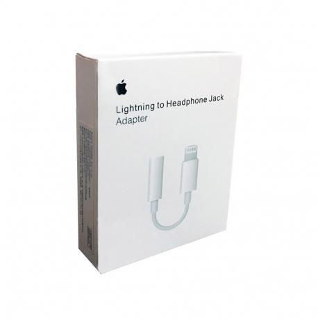 Apple MMX62 Adaptateur d'origine Lightning vers Jack 3.5mm - Blanc (En Vrac)