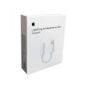 Apple MMX62 - Adaptateur d'origine Lightning vers Jack 3.5mm - Blanc (Blister)