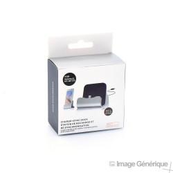 Dock de Charge et Synchronisation - Connecteur Micro USB - Noir (Emballage Originale)