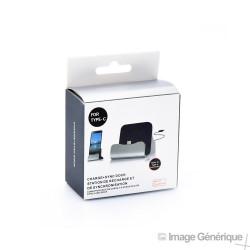 Dock de Charge et Synchronisation - Connecteur USB-C - Noir (Emballage Originale)