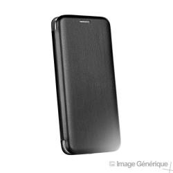 Étui à Rabat Similicuir pour Samsung Galaxy A6 Plus 2018 - Noir (En Vrac)