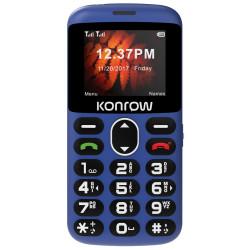Konrow Senior - Écran 2'' - Double Sim - Bleu (Dock de charge Fourni)