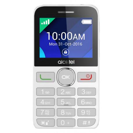 Alcatel 2008D - Double SIM - Blanc / Argent