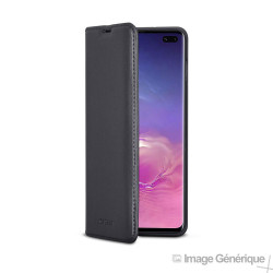Étui à Rabat Similicuir pour Samsung Galaxy S10 Plus- Noir (En Vrac)