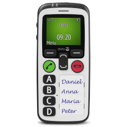 Doro Secure 580 IUP - Noir / Blanc (Protection Travailleurs Isolés - PTI)