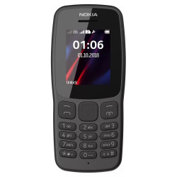 Nokia 106 - Double Sim - Noir (Version NON Garantie*)