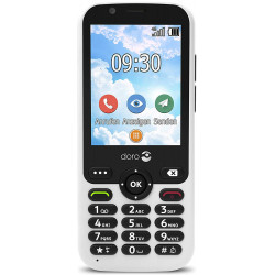 Doro 7010 - Double Sim - 4G - Blanc