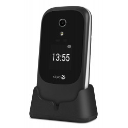Doro 7060 Clapet - Double SIM - 4G - Noir