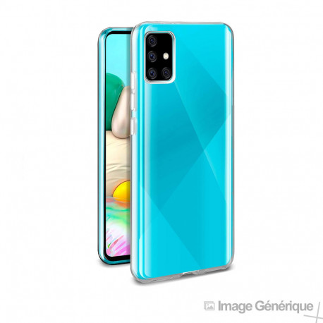 Coque Silicone Pour Samsung Galaxy A71 (0.5mm, Transparent) - Compatible - Bulk
