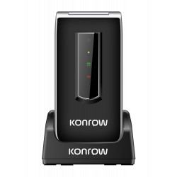 Konrow Senior C - Écran 2.4'' - Double Sim - Noir (Dock de charge Fourni)