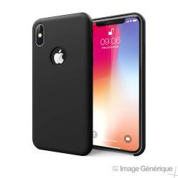 Coque Silicone Pour iPhone XS Noir