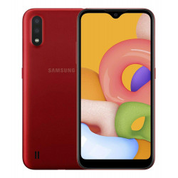 Samsung A015F/DS Galaxy A01 - Double Sim - 16Go, 2Go RAM - Rouge (Version NON Garantie*)