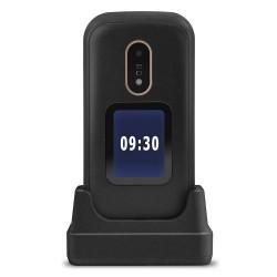 Doro 6060 - Double Sim - Noir à clapet