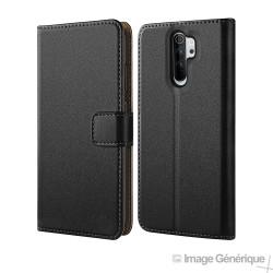 Étui à Rabat Similicuir pour Xiaomi Redmi Note 8 - Noir (En Vrac)