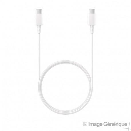 Samsung EP-DG977BWE - Câble USB Type-C Vers USB Type-C - 1m - Blanc (En Vrac)