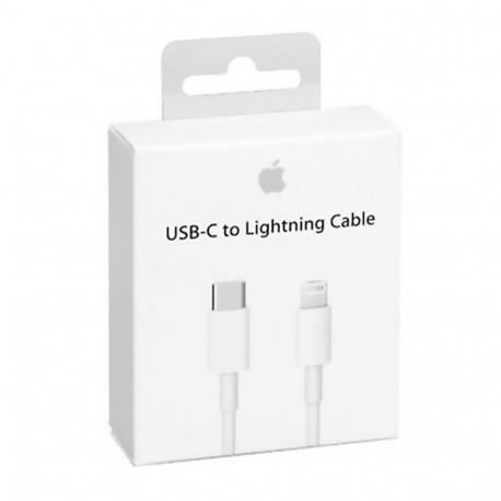 Apple MKQ42 - Câble USB Type-C à Lightning (2m, Blanc) - Original, Blister