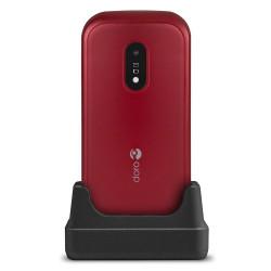 Doro 6040 (Double Sim, Clapet, 2.8'') - Rouge