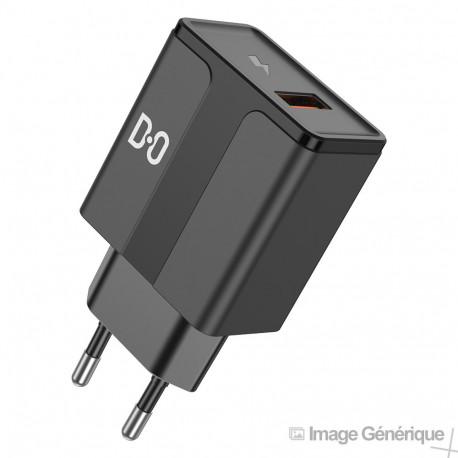 Adaptateur Secteur USB Universel - 2.4A, Fast Charge, Noir (Compatible, Blister)