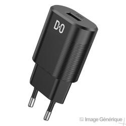 Adaptateur Secteur USB Universel - 2.1A, Noir (Compatible, Blister)