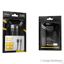 Câble Data Lightning Pour Iphone - 1m - Noir - (Compatible, Blister)