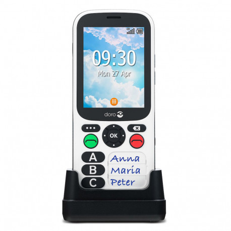 Doro 780X IUP (Double Sim, 4G, 2.8'') - Noir et Blanc