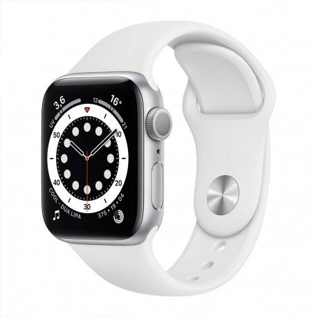 Apple Watch Serie 6 (44mm, Sport Band GPS) Bracelet Blanc