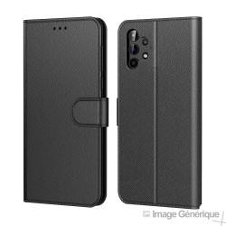 Étui à Rabat Similicuir pour Samsung Galaxy A32 4G - Noir (En Vrac)